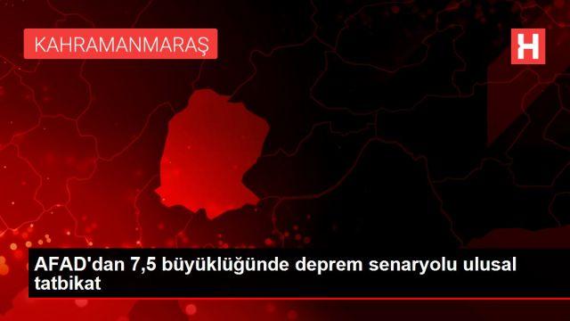 AFAD'dan 7,5 büyüklüğünde deprem senaryolu ulusal ...