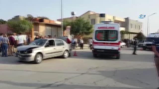 Kadirli'de İki Otomobil Kafa Kafaya Çarpıştı: 4 Yaralı