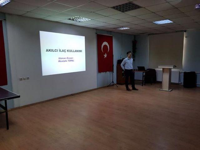 Odamız eczacılarından Ecz. Mustafa TOPAL TOPRAKKALE AÇIK