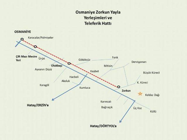 Osmaniyenin Karaçay Vadisi İle Zorkun Yaylası Arasına