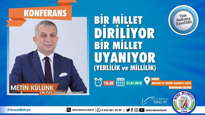 26. Dönem İstanbul Milletvekili Sn. Metin Külünk Bugün